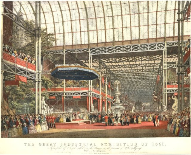 The interior of the Crystal Palace, 1851 (British Museum Collection)