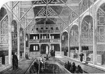 Turkish Baths in Jermyn Street, Illustrated London News, July 1862