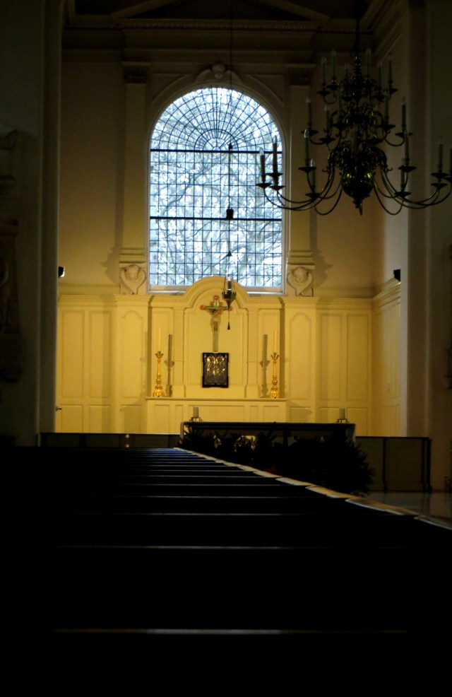 Inside St John's Wood Chapel