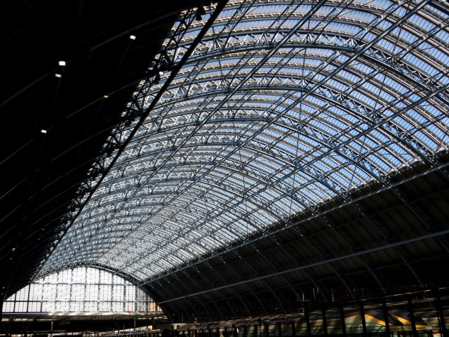 The train shed of St Pancras station
