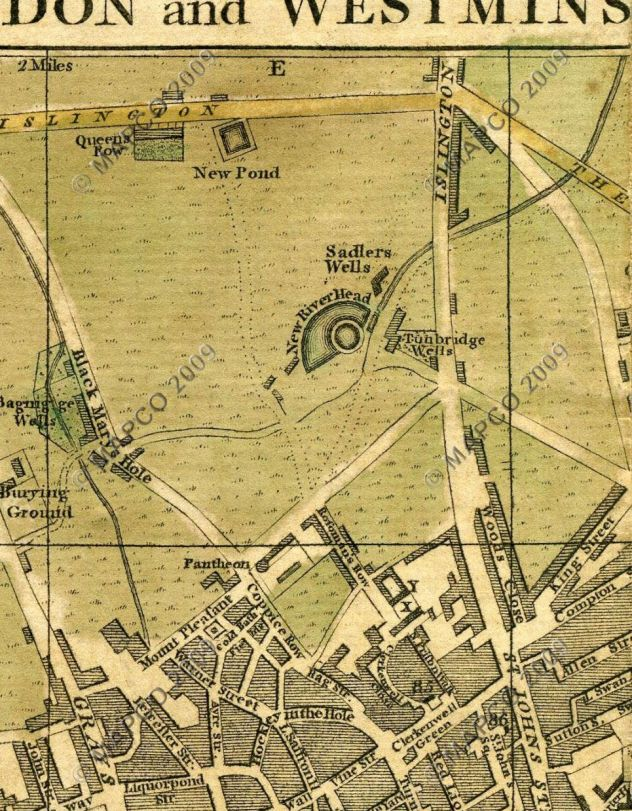 Map of Bagnigge Wells, 1775