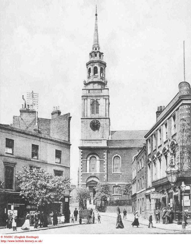 St James's Church, from Clerkenwell Green, 1900, British History Online