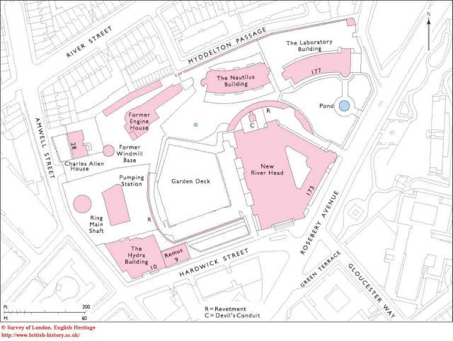 Plan of New River Head, 2005, British History Online