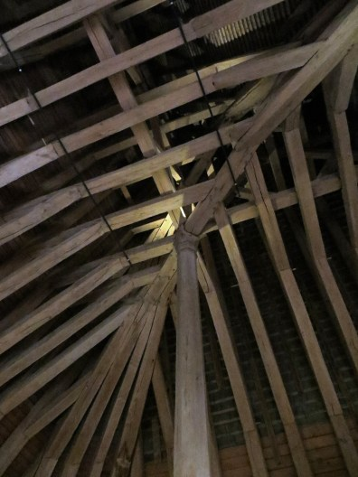 Inside the roof