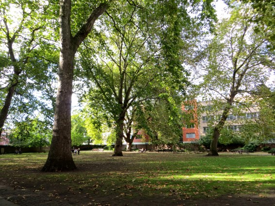 Bunhill Fields with adjacent park