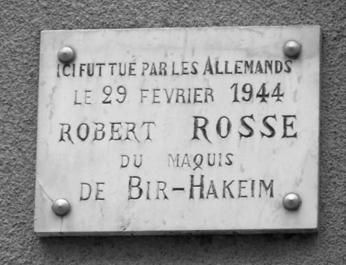 Plaque on street corner
