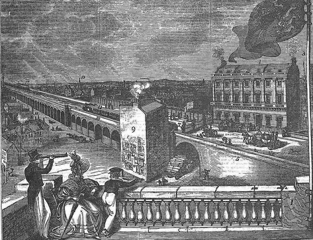 London & Greenwich Railway line at London Bridge, 1836 (Wikipedia)