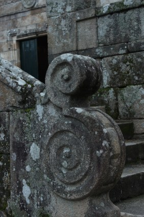 Granite balustrade at the Church of San Benito, Cambados