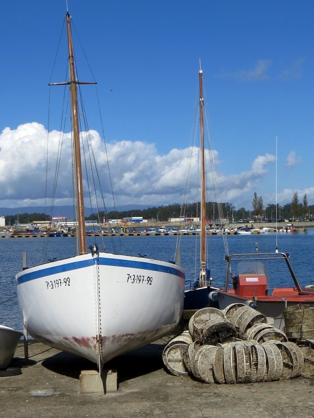 Boats in Cambados harbour