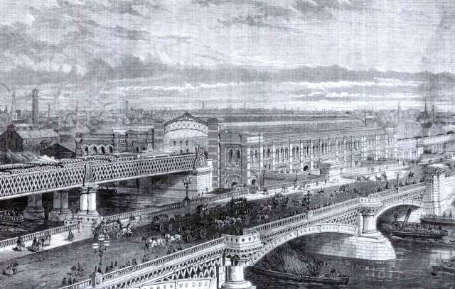 Blackfriars Railway Bridge (L) & Road Bridge (R), Cubitt & Turner