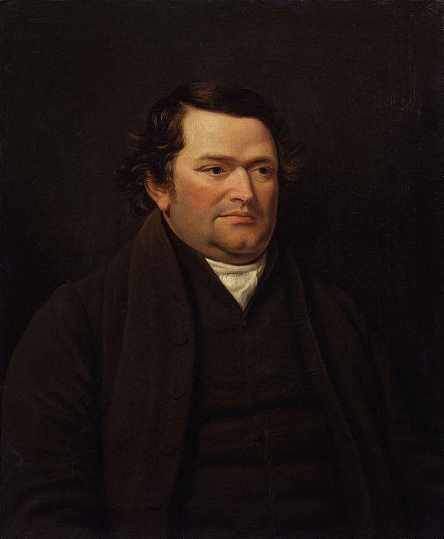 Joseph Lancaster, c.1818, by John Hazlitt (NPG, Wikipedia)