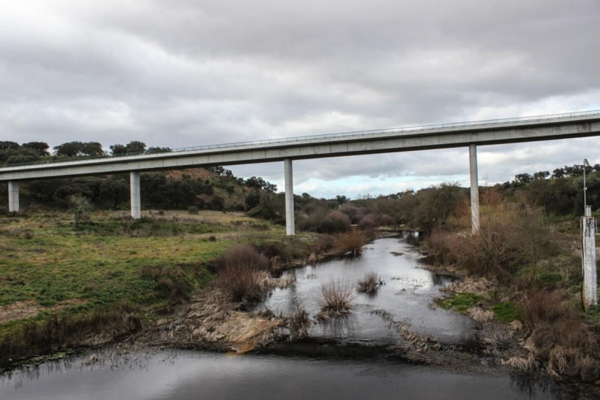 The new bridge over the River Seda