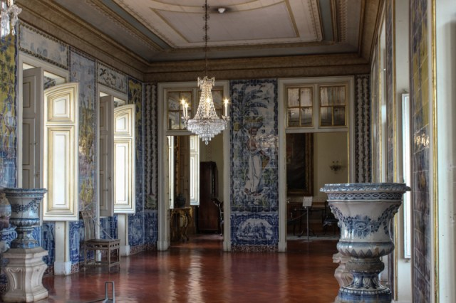 The Sala das Mangas, Royal Palace at Queluz