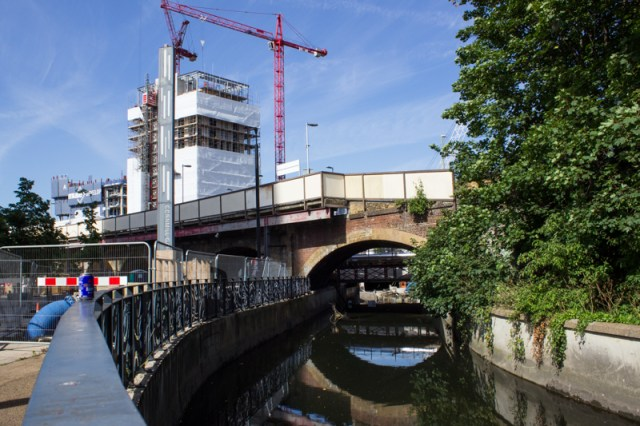 The Ravensbourne at the Lewisham Roundabout