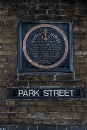Park Street, home to Barclay & Perkins Brewery