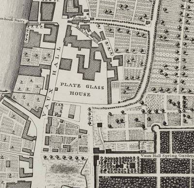 Glasshouse, map of 1746 (www.kenningtonandkennington.org.uk)