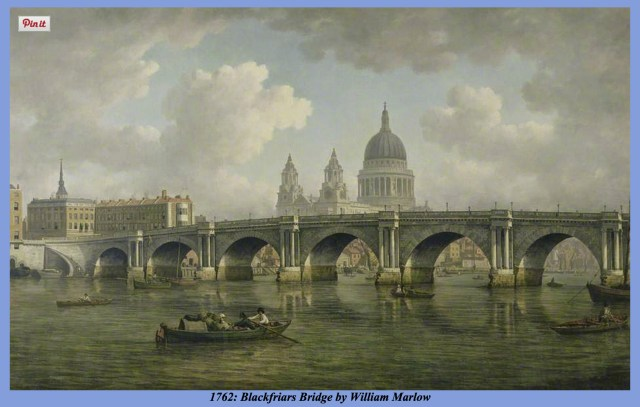 Blackfriars Bridge, 1762 (www.thames.me.uk)