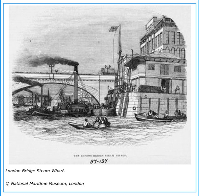London Bridge Steam Wharf , 1844 (www.portcities.org.uk)