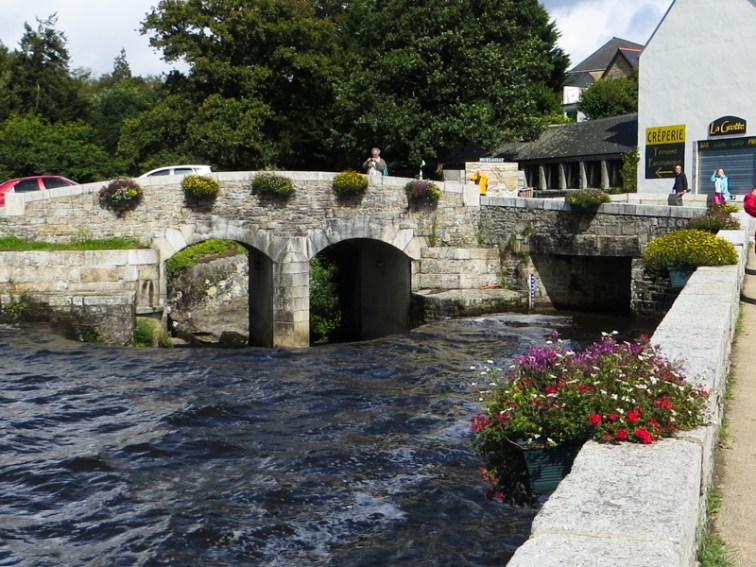 The old bridge over the Argent River at Huelgoat