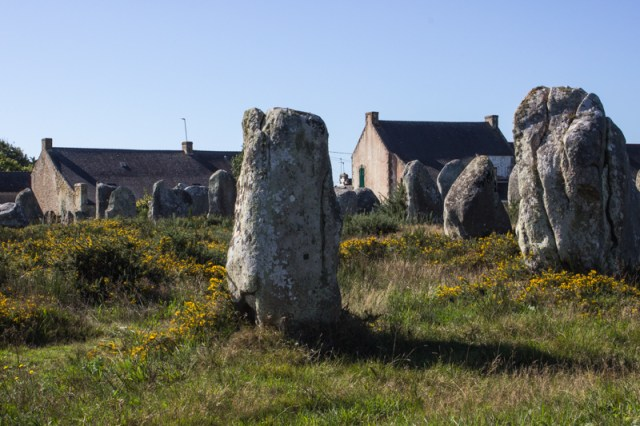 The village of Le Menec inside the Cromlech at the top end of the Alignments