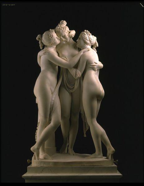 Canova, 'The Three Graces' 1814-18 (www.collections.vam.ac.uk)