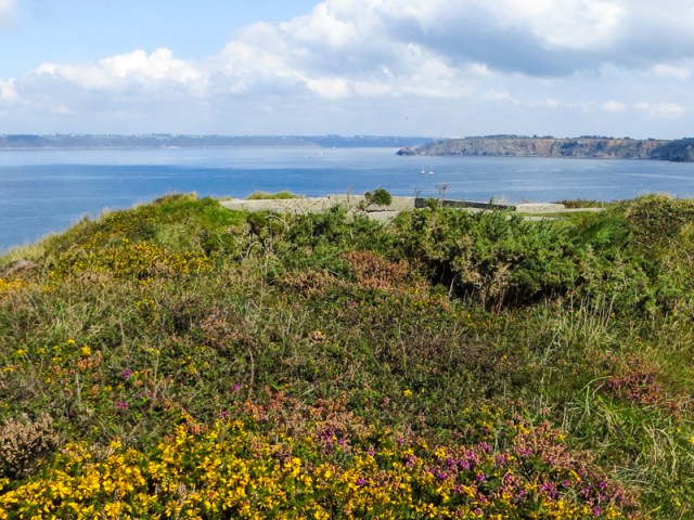 On the headland above Camaret-sur-Mer, looking towards Brest