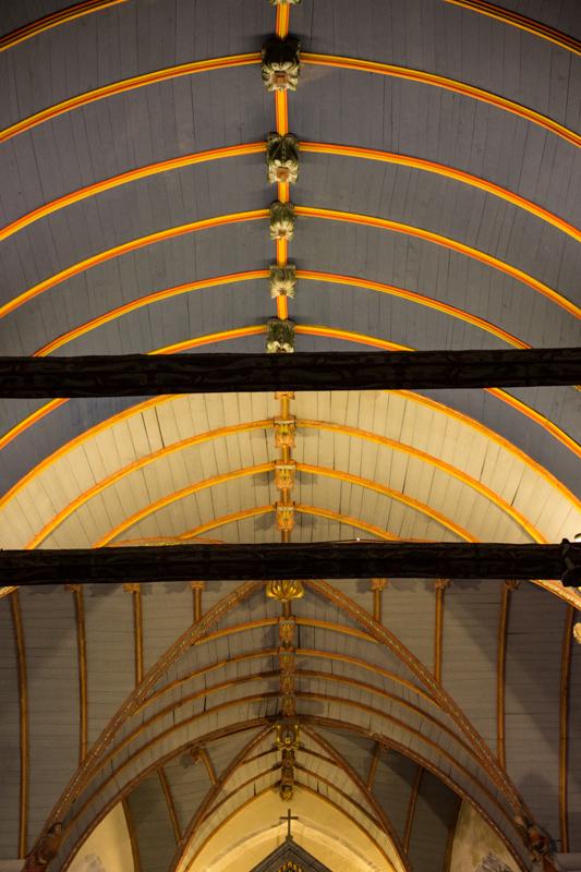 The ceiling of Sizun Church