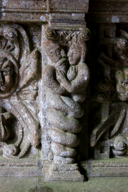 Bodilis Church, South Porch - Adam & Eve