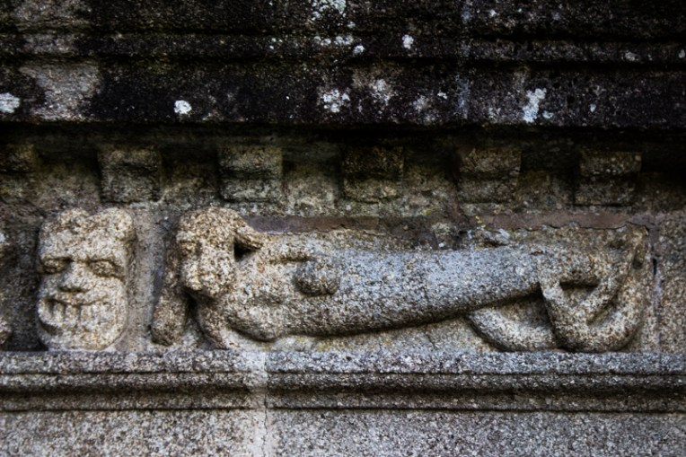 Carving on the frieze, Sizun Church