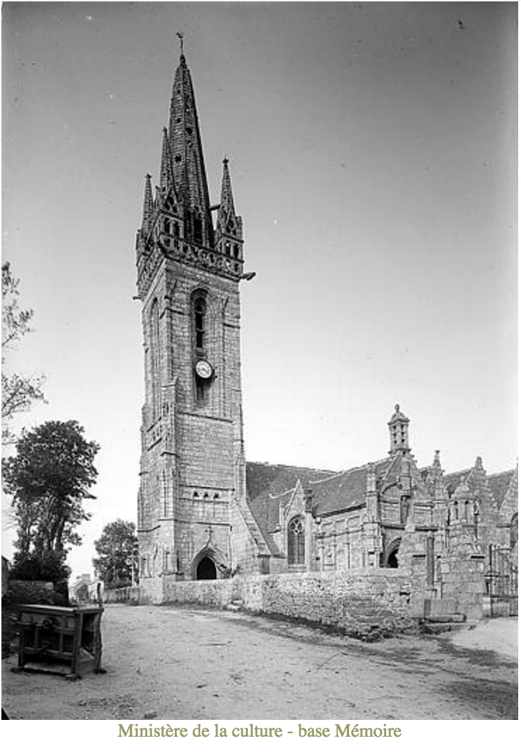Bodilis Church, Clock Tower, Henri Deneux