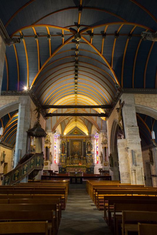 Interior of St Suliauc Church, Sizun