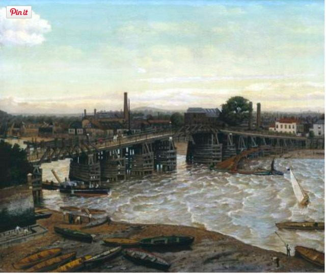 Old Battersea Bridge (https://commons.wikimedia.org/wiki/File:Greaves_Old_Battersea_Bridge_1874.jpg)