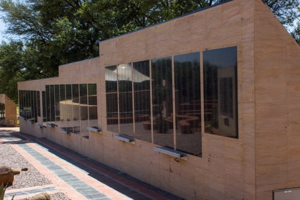 The Wall of Remembrance with the names of those who died in the concentration camps