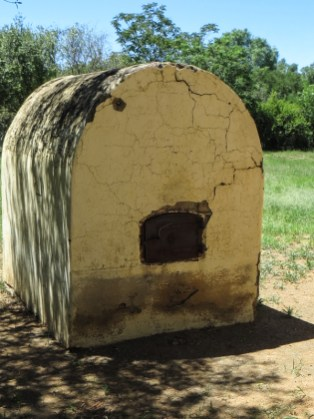 The outdoor oven for slow cooking