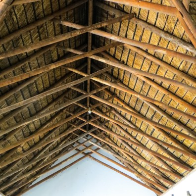 Wood & reed ceiling of the Wagon House
