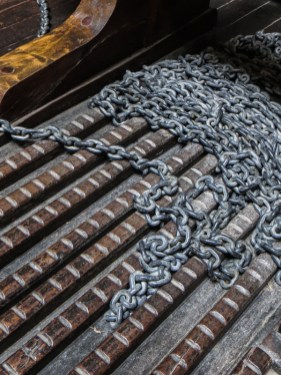 The anchor chains of the Bartholomew Dias
