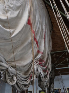 Sails on the Bartholomew Dias