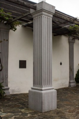 Pillars at the front door of the Drostdy