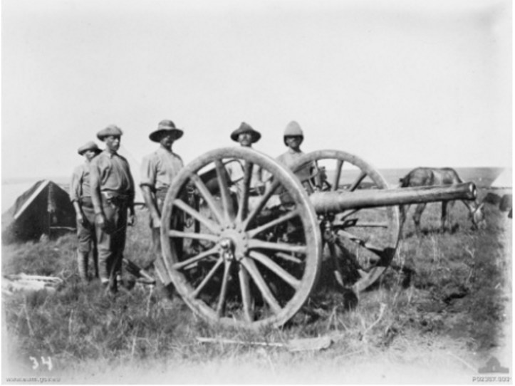 Australians with Field Gun (https://commons.wikimedia.org/wiki/File:AustraliansAnd15pounder1901BoerWar.jpeg)