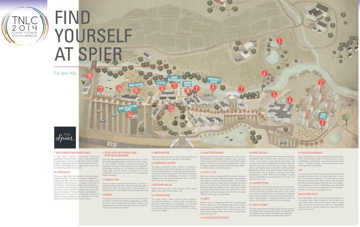 Map of Spier Wine Estate