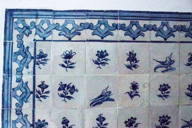 Delft wall tiles in the Pousada, Vila Vicosa