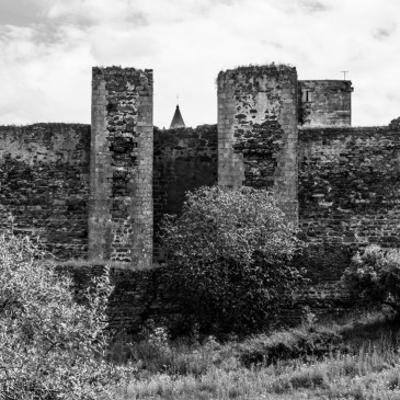 Mourao Castle in monotone