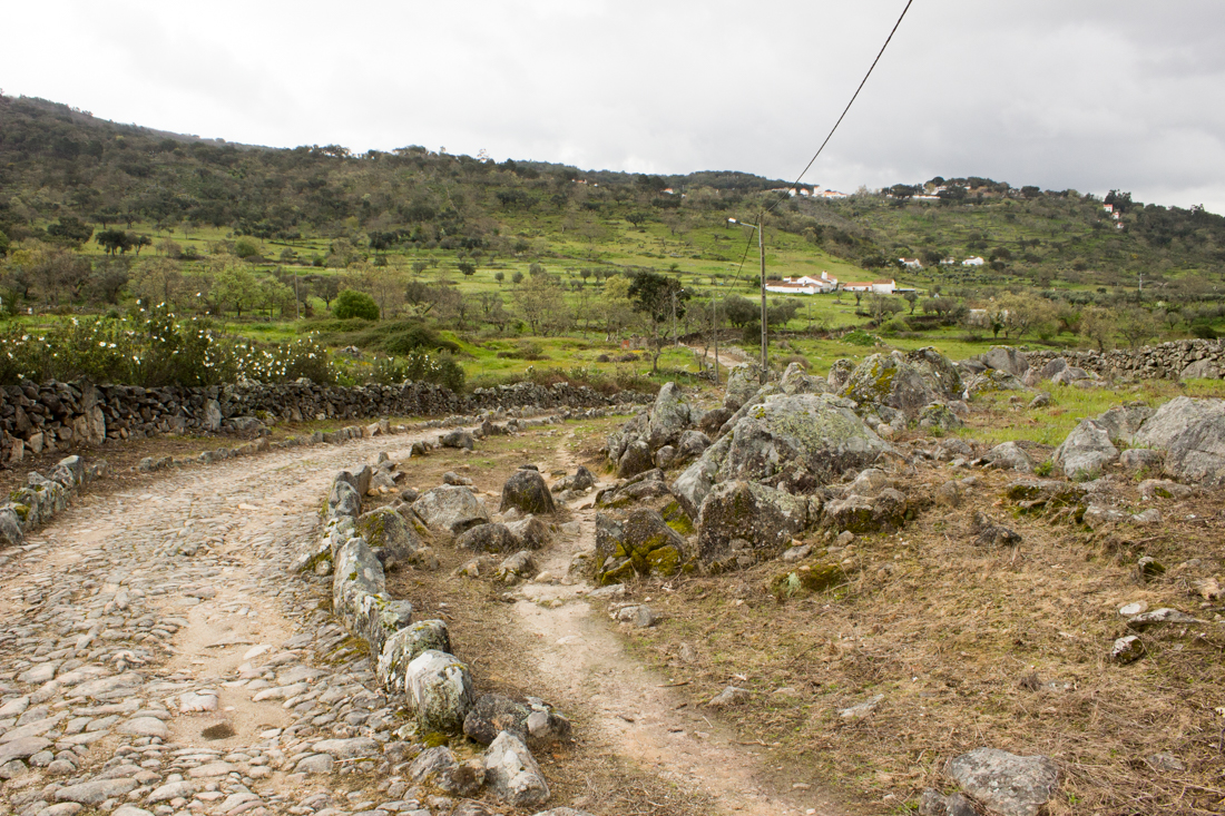 The Mediaeval road at Carreiras