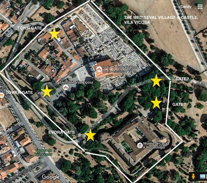 GOOGLE MAP OF VILA VICOSA-