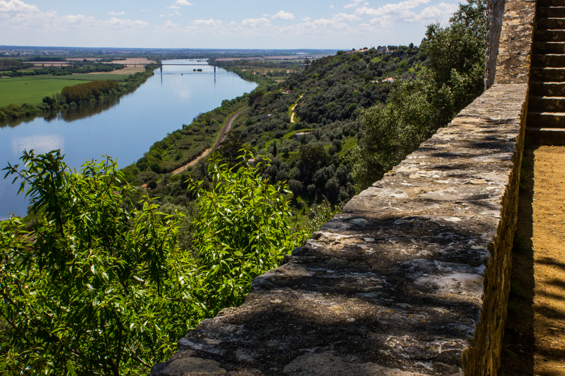 The Tagus River from the Walls of Santarem Castle