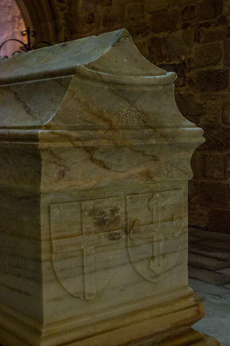 The tomb of Dom Alvaro Pereira in the Chapel of the Monastery of Flor da Rosa