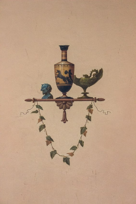 Wall painting in the Pompeian Room, Ickworth House