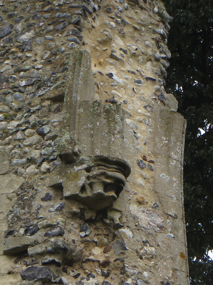 Remains of decorations in Thetford Abbey Church