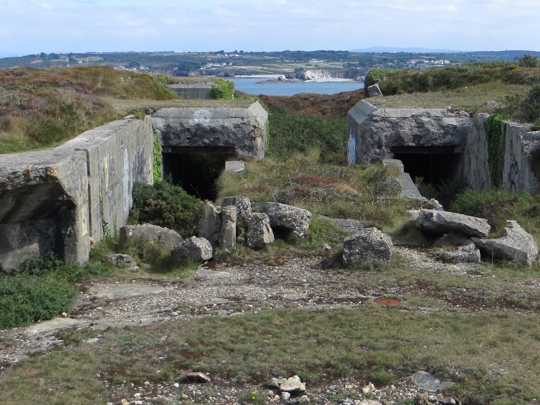 German WWII fortifications overlooking Camaret-sur-Mer