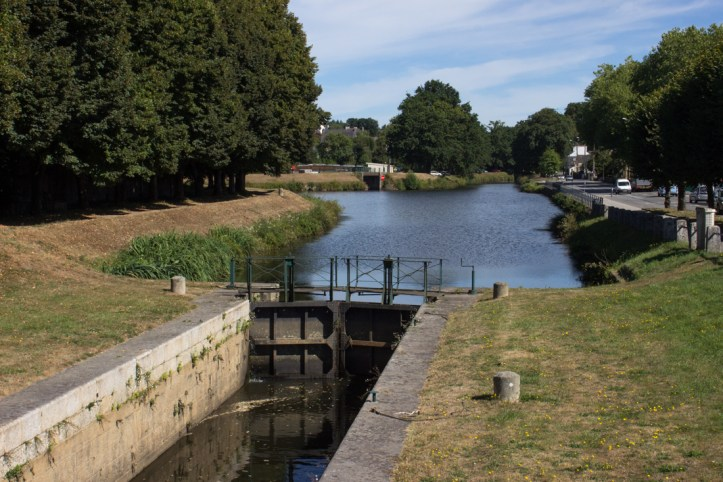 A lock on the Nantes-Brest Canal in Pontivy